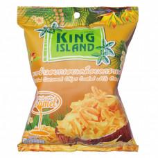 ТАЙ Кокосовые чипсы KING ISLAND с карамелью, 40г