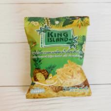 ТАЙ Кокосовые чипсы KING ISLAND со вкусом ананаса, 40г